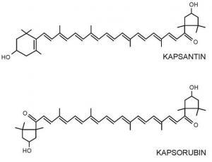 Strukture kapsantina i kapsorubina
