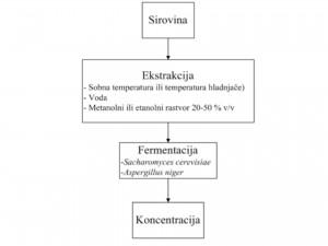 Pojednostavljen postupak ekstrakcije betalaina (prilagođeno iz Delgado-Vargas et al.)