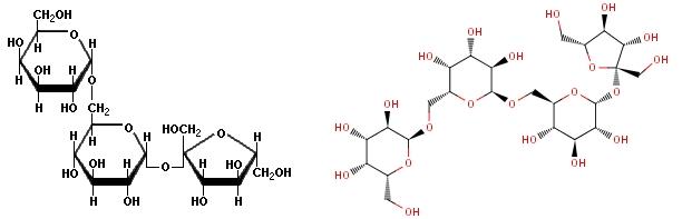 Hemijske strukture rafinoze i stahioze