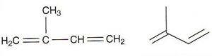 Izopren ( 2-metil, 1, 3-butadien ) čini osnovnu strukturu lipida izoprenoidnog porijekla