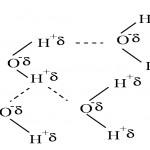 Shematski prikaz vodikovih veza