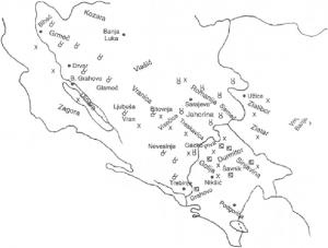Rasprostranjenost kajmaka-skorupa u dinarskoj oblast